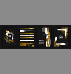 gold and black luxury background design set vector image