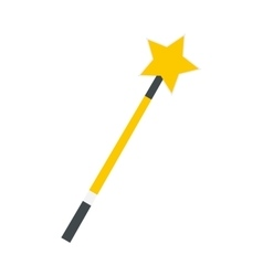 Gold magic wand flat vector image