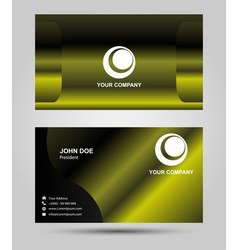 Green business card vector