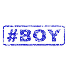 Hashtag boy rubber stamp vector
