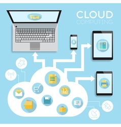 Infographics device cloud vector