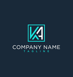 Ka ak initial logo luxury design inspiration vector