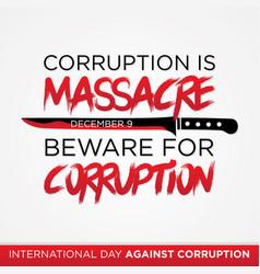 Letter corruption is massacre quote vector