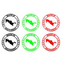 Made in uzbekistan rubber stamp vector