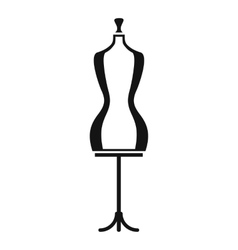 Mannequin icon simple style vector