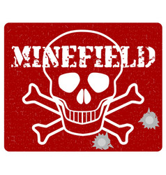 minefield vector image