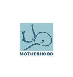 motherhood concept with mother vector image
