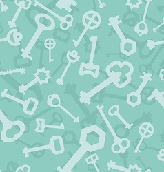 Old key seamless pattern Lot vintage key from lock vector image