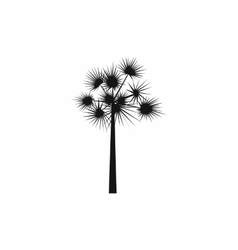 One palm tree icon simple style vector image