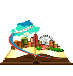 open book city vector image