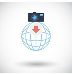 Photo download single icon vector image
