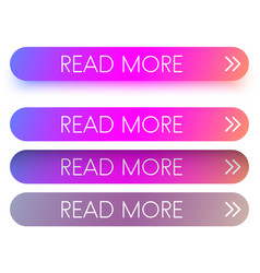 pink spectrum read more web buttons isolated on vector image
