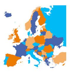 Political map of europe european ministates vector