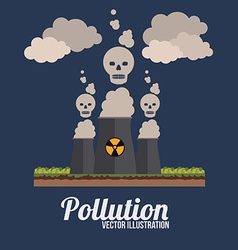 Pollution design over black background vector
