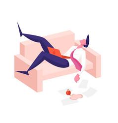 procrastination overwork burnout symptoms concept vector image
