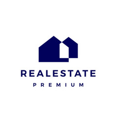 real estate house mortgage logo icon vector image