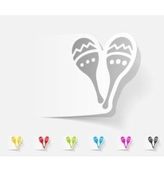 realistic design element maracas vector image