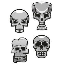 set monster skull mascots vector image