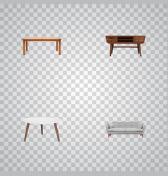 Set of decoration realistic symbols with commode vector