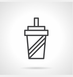 shaker simple line icon vector image