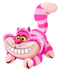 Soft toy plush striped smiling cat isolated vector