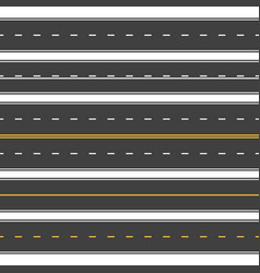 straight roads seamless endless asphalt street vector image