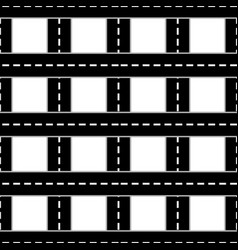 streets and roads pattern in black and white vector image
