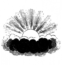 sun behind a cloud vector image