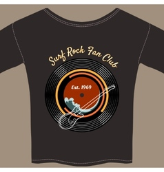 Surf Rock tee shirt vector image