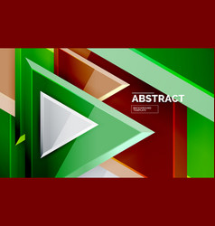 triangular low poly background design vector image