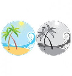 tropical island icon vector image