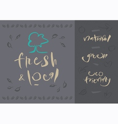 Vegetarian Fresh and local vector