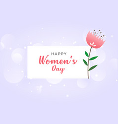 womans day celebration wallpaper design background vector image