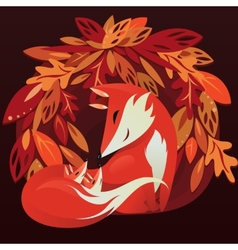 Fox and her babyes vector image