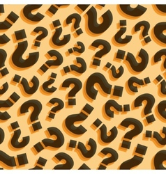 Questions Seamless pattern vector image vector image