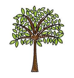 scribble tree cartoon vector image vector image