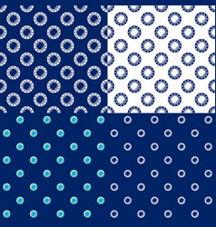seamless marine pattern with porthole vector image vector image