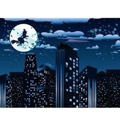 Witch is Coming to the City6 vector image vector image
