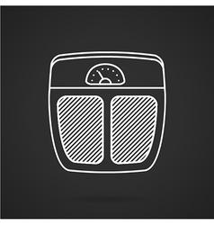 Floor scales white line icon vector image