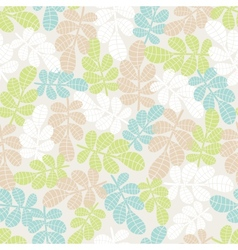 Seamless background with leaves and grass vector image
