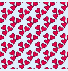 simple red heart sharp seamless pattern and vector image