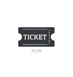 Theater movie ticket icon logo Ticket vector image