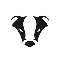 abstract cool badger head symbol logo design vector image