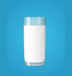 abstract milk glass on blue background vector image vector image