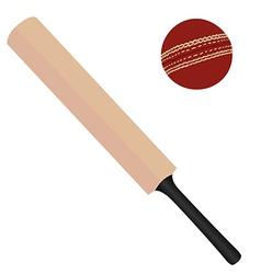 Cricket bat and ball vector image