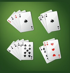 Different cards combination vector