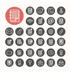 Finance Icons and Documents note Icons set vector image vector image