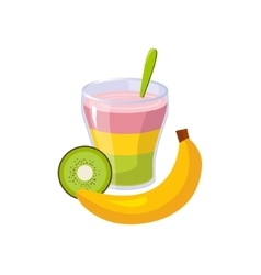 Fruit And Smoothie Breakfast Food Element Isolated vector image vector image