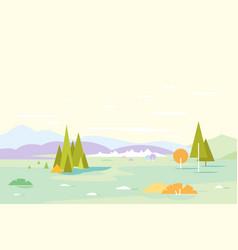 Geometric nature landscape background vector