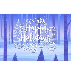 Happy New Year and merry christmas Holiday vector image